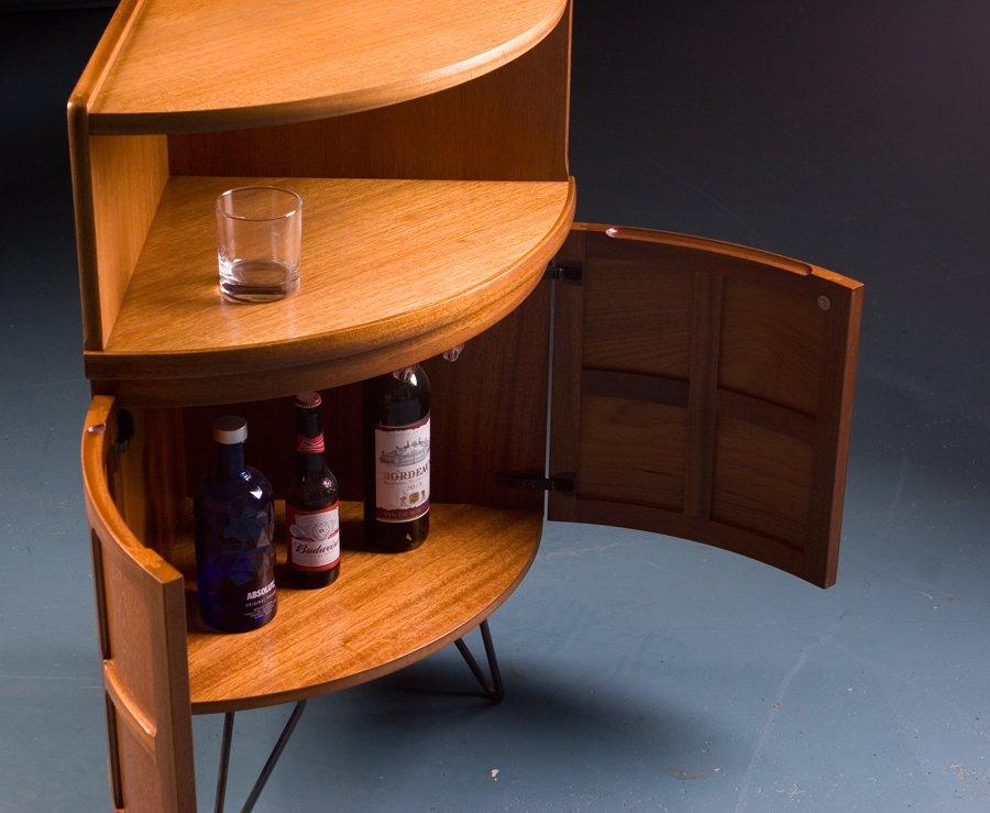 Vintage British Corner Drinks Cabinet From Parker Knoll