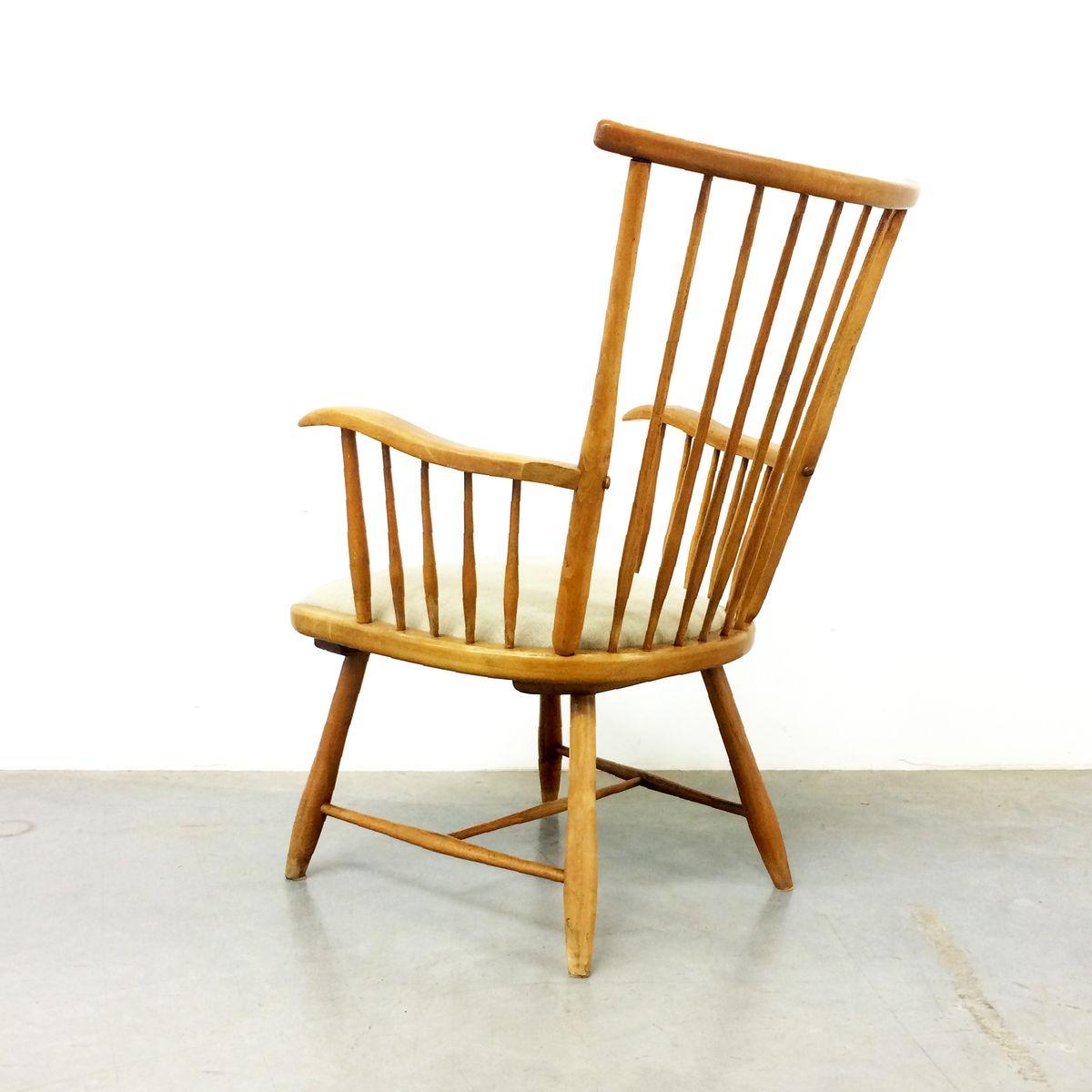 wk s7 armlehnstuhl von arno lambrecht f r wk m bel 1950er bei pamono kaufen. Black Bedroom Furniture Sets. Home Design Ideas