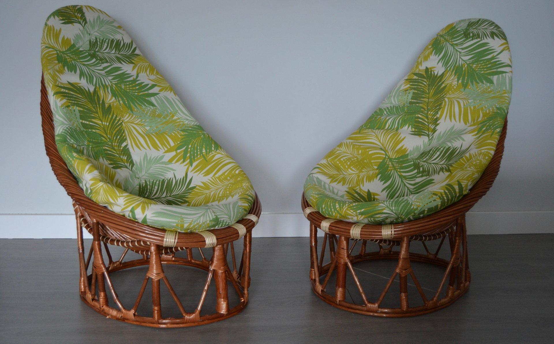 Sessel aus Bambus und Rattan, 1980er