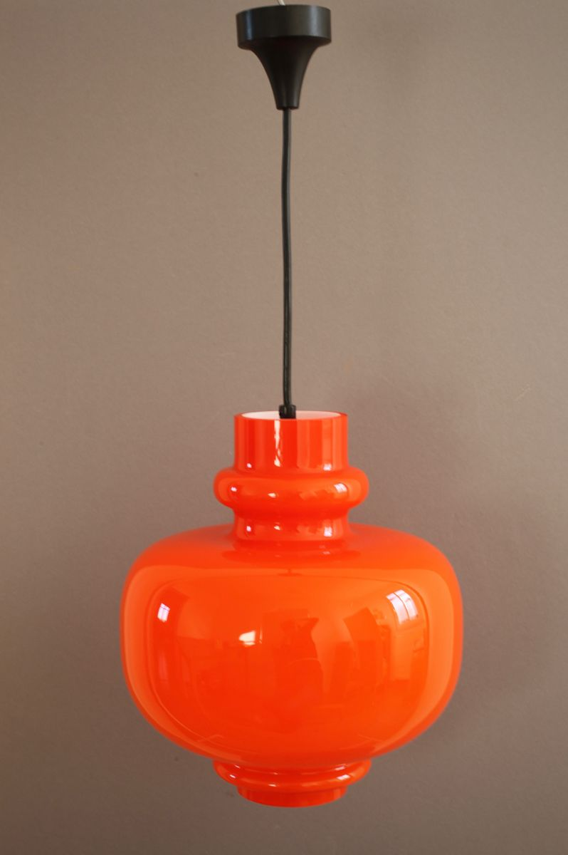 vintage space age glass pendant lamp from staff for sale at pamono. Black Bedroom Furniture Sets. Home Design Ideas