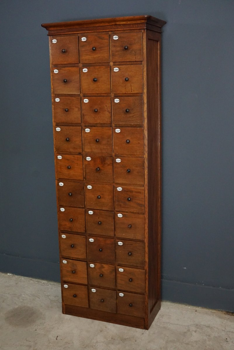 Lovely French Oak Apothecary Cabinet, 1900s