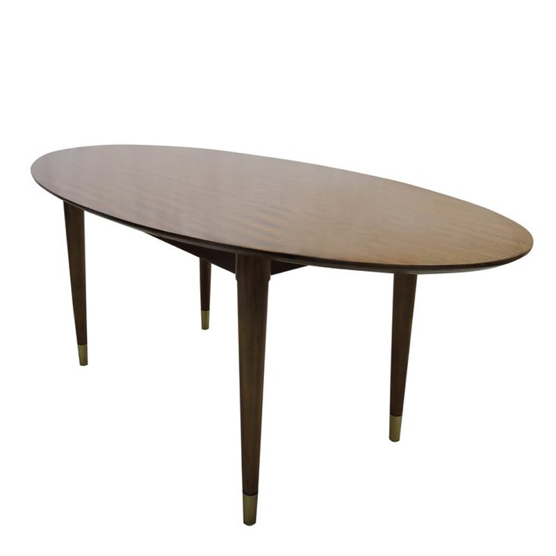 Mid-Century Oval Coffee Table For Sale At Pamono