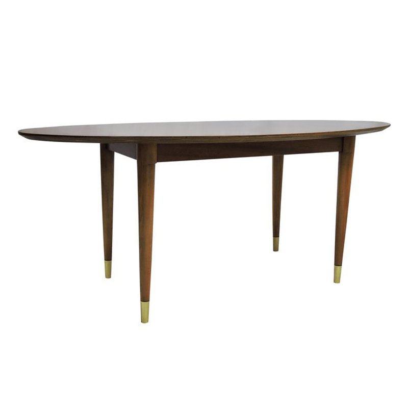 Mid Century Oval Coffee Table For Sale At Pamono