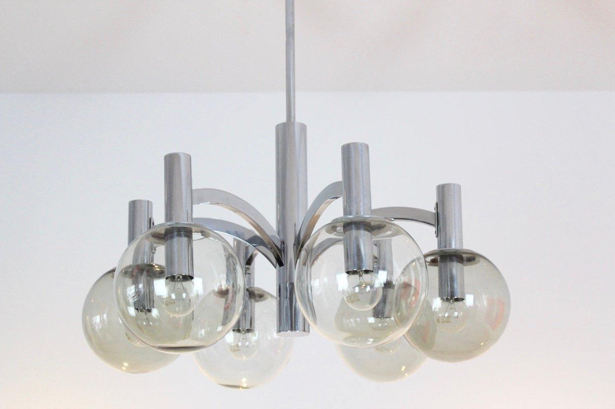 Kronleuchter Vintage Silber ~ Großer vintage kristallglas kronleuchter von bakalowits sohne
