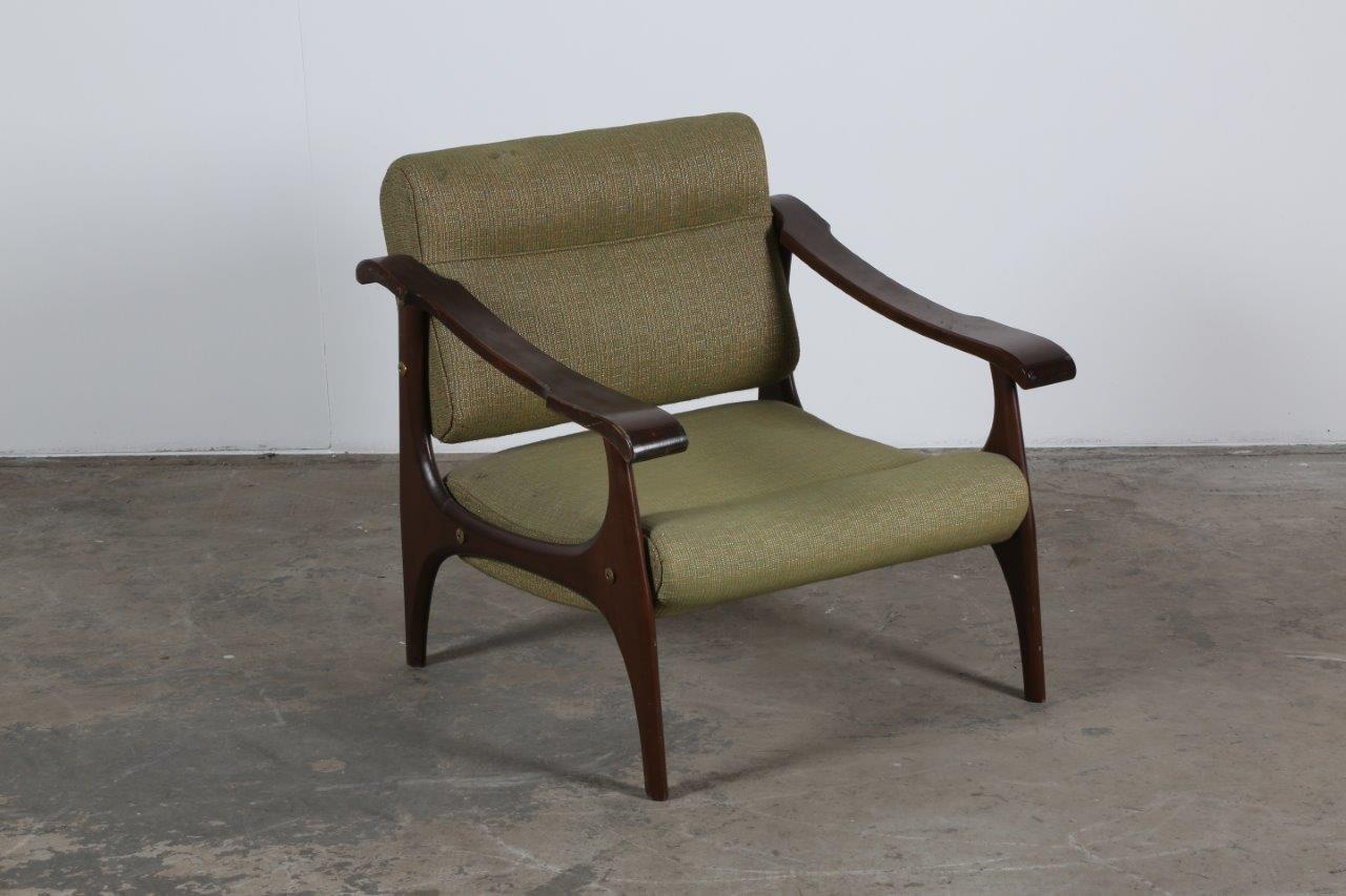Italienische Sessel aus Buche, 1960er, 2er Set