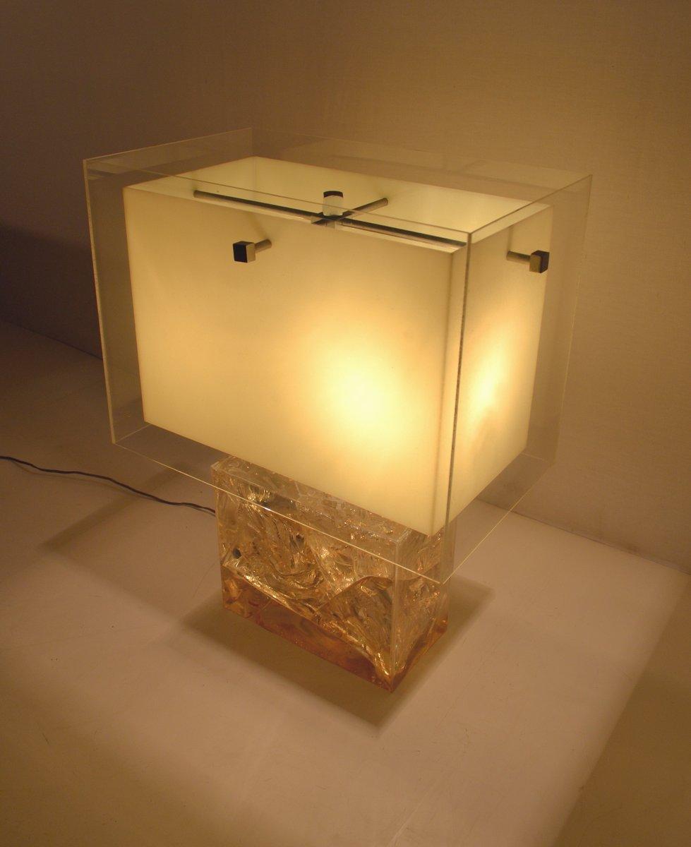 Vintage Tischlampe aus Fraktalem Harz von Pierre Giraudon