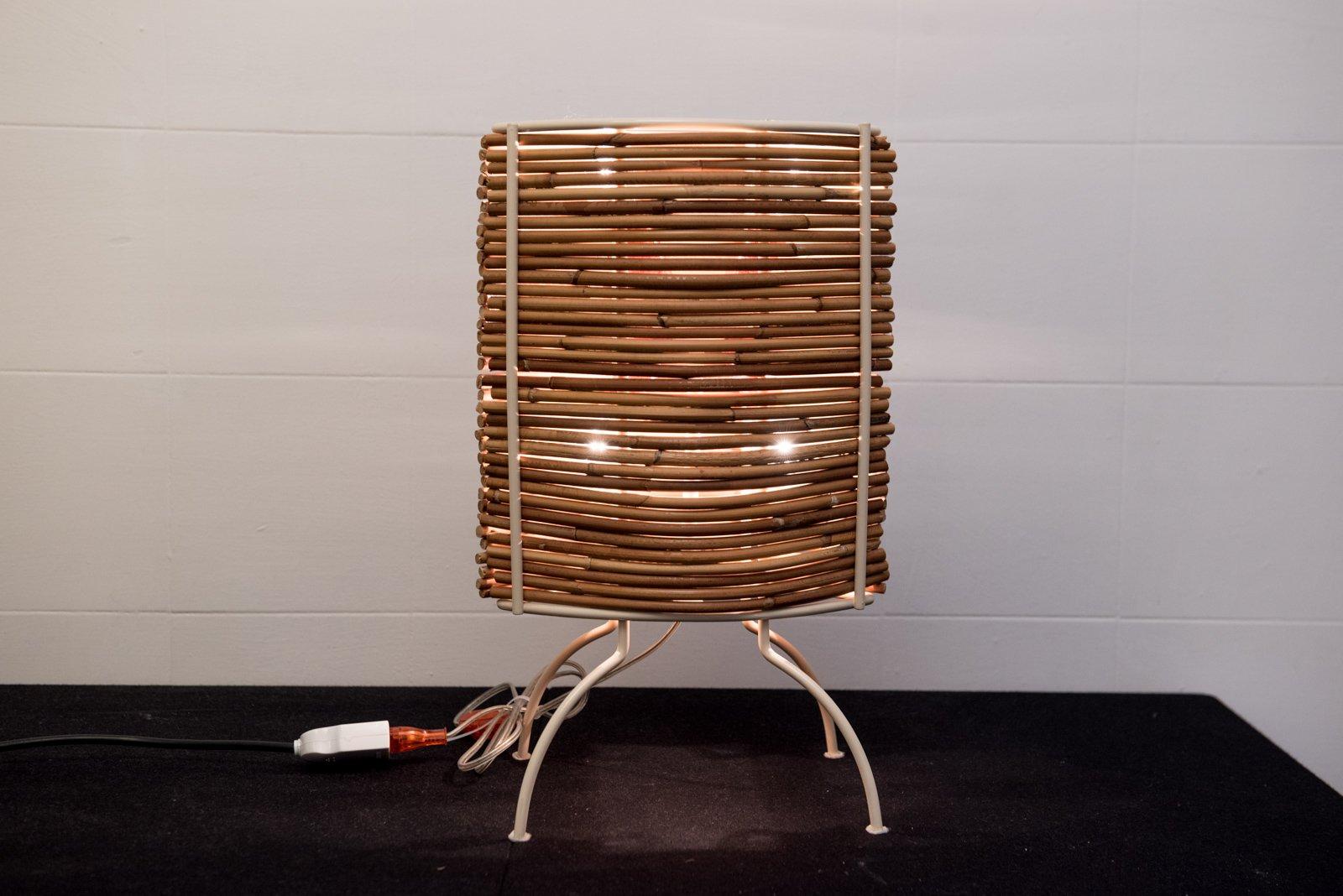 Bambus Tischlampe von Fernando & Humberto Campana für Candle, 2000