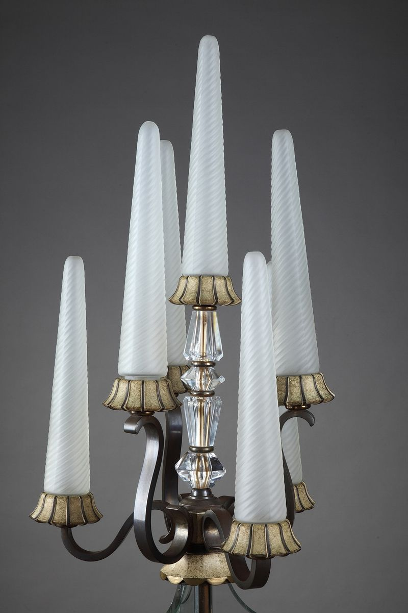 vintage art deco stehlampe bei pamono kaufen. Black Bedroom Furniture Sets. Home Design Ideas