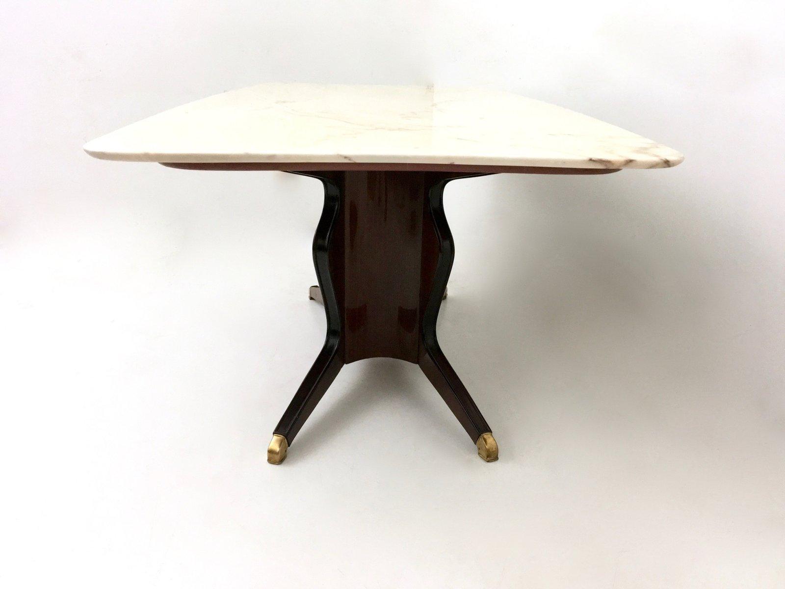 table de salle manger en bois avec plateau en marbre de carr re par osvaldo borsani 1950s en. Black Bedroom Furniture Sets. Home Design Ideas