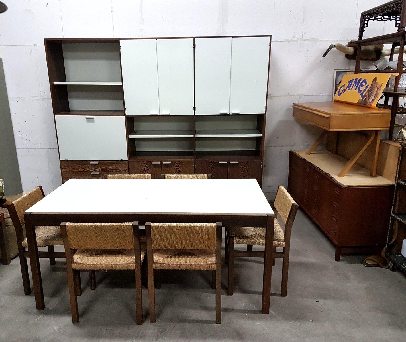Vintage Esstisch von Cees Braakman für Pastoe mit 7 Stühlen von Martin...