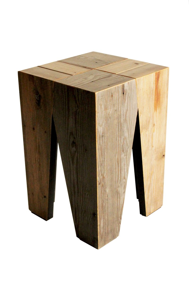 Holzhocker Von Marco Caliandro Bei Pamono Kaufen