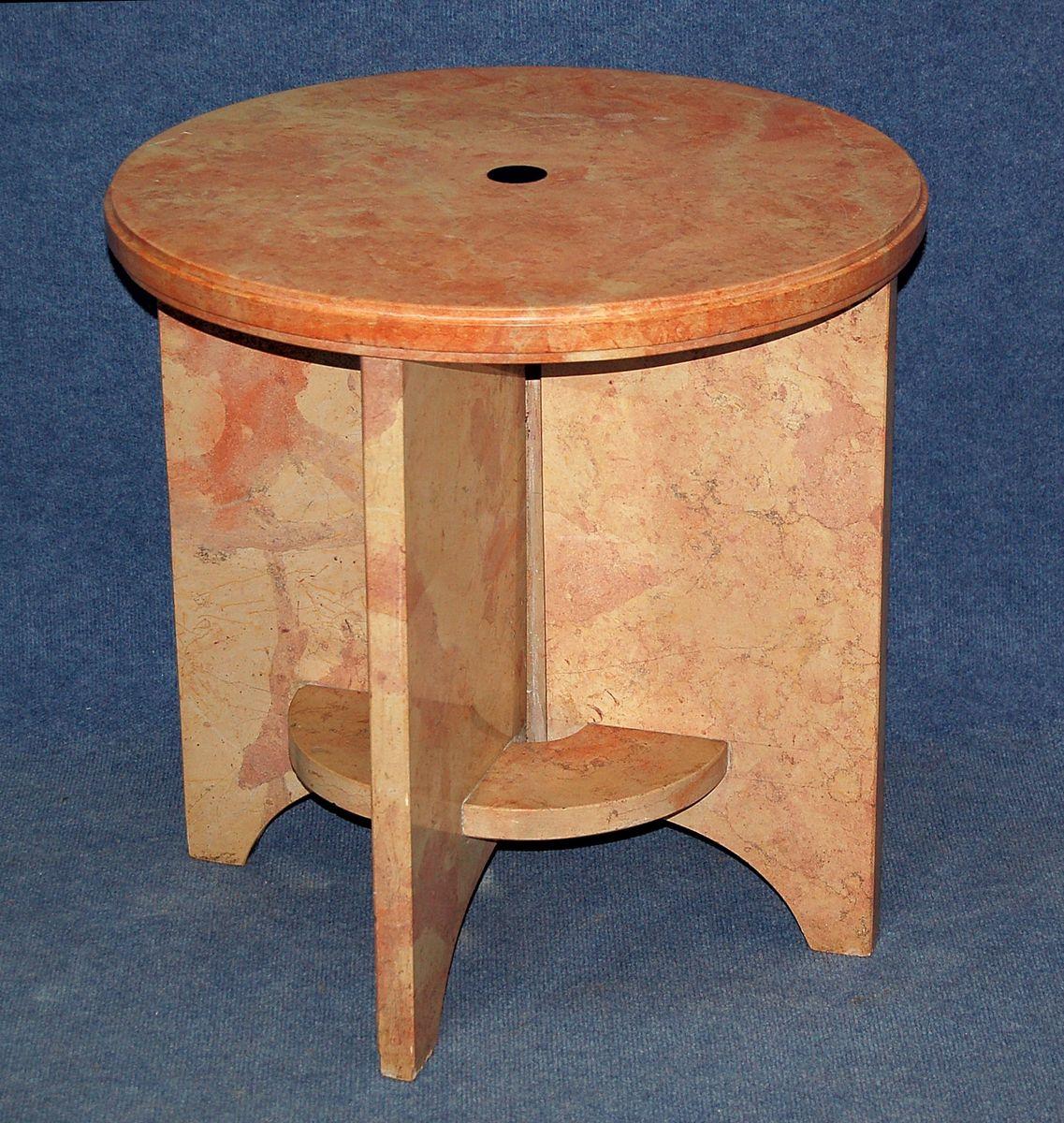 table d 39 appoint piedestal vintage en vente sur pamono. Black Bedroom Furniture Sets. Home Design Ideas