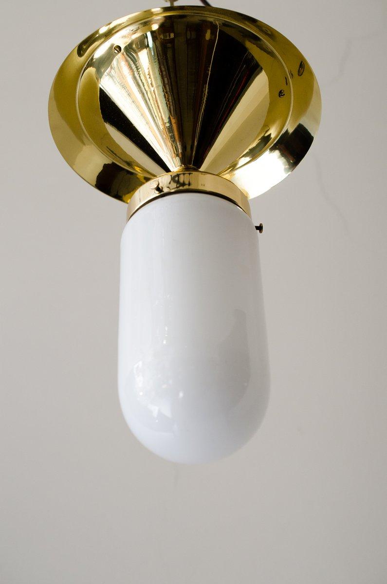 plafonnier art d co avec verre en vente sur pamono. Black Bedroom Furniture Sets. Home Design Ideas