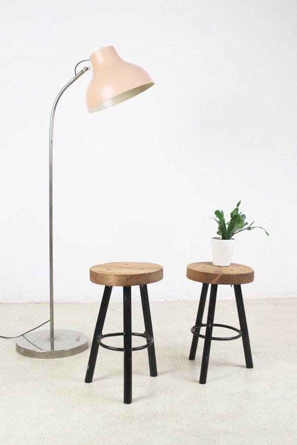 petit tabouret vintage en bois en vente sur pamono. Black Bedroom Furniture Sets. Home Design Ideas