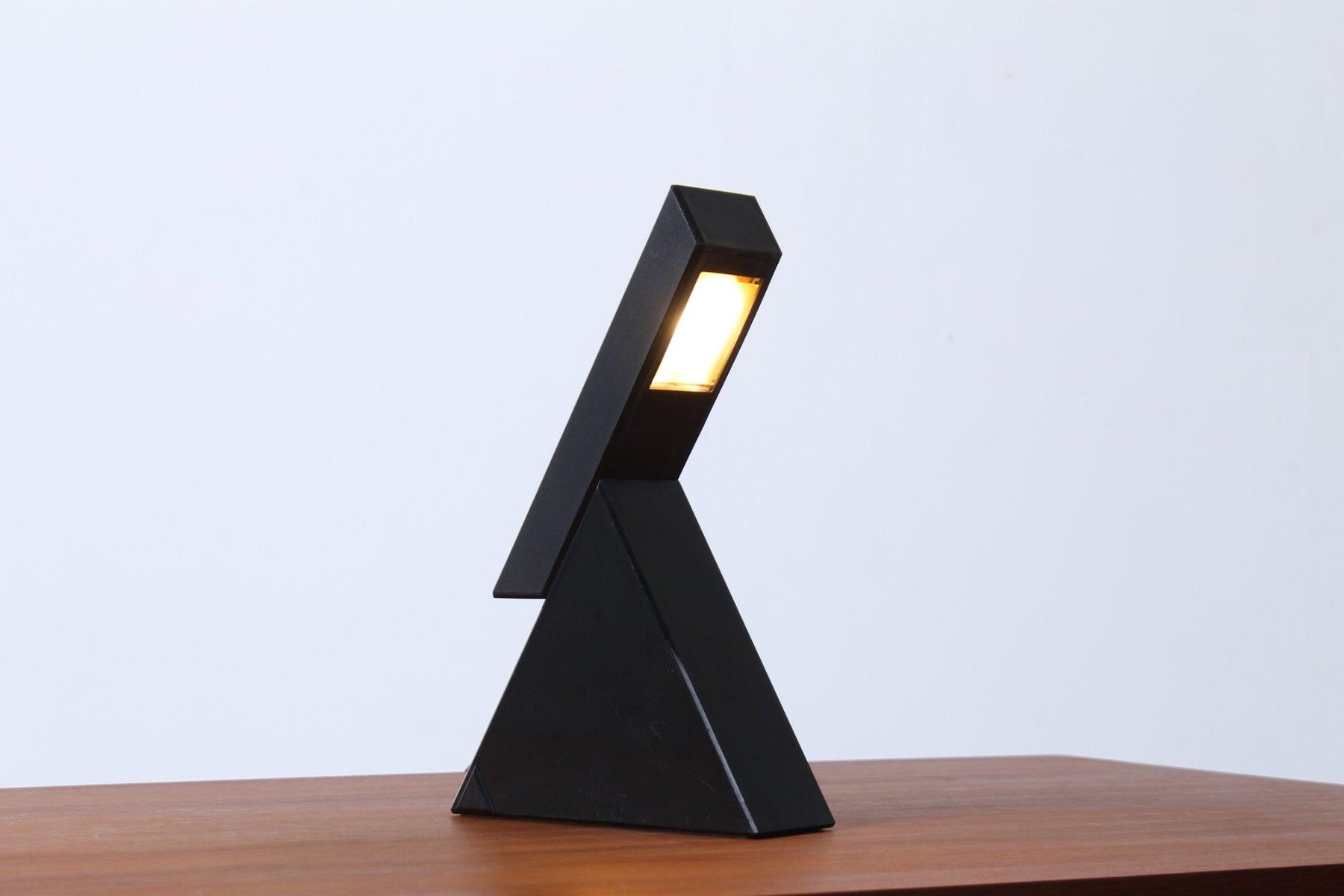 Lampe de bureau delta noire ajustable vintage par mario bertorelle