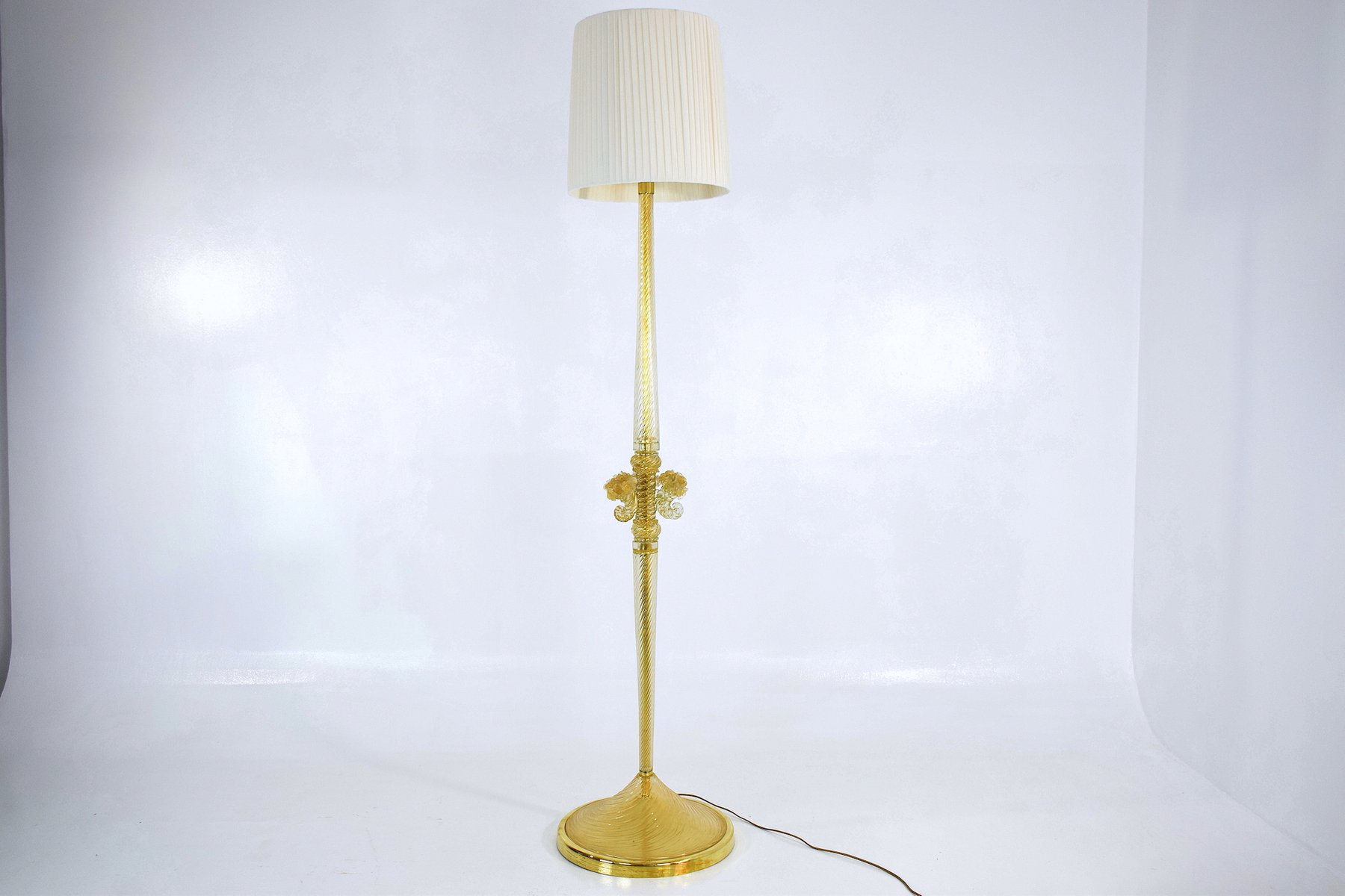 Mid Century Murano Floor Lamp By Ercole Barovier For Toso Rewiring Antique Lamps 1940s