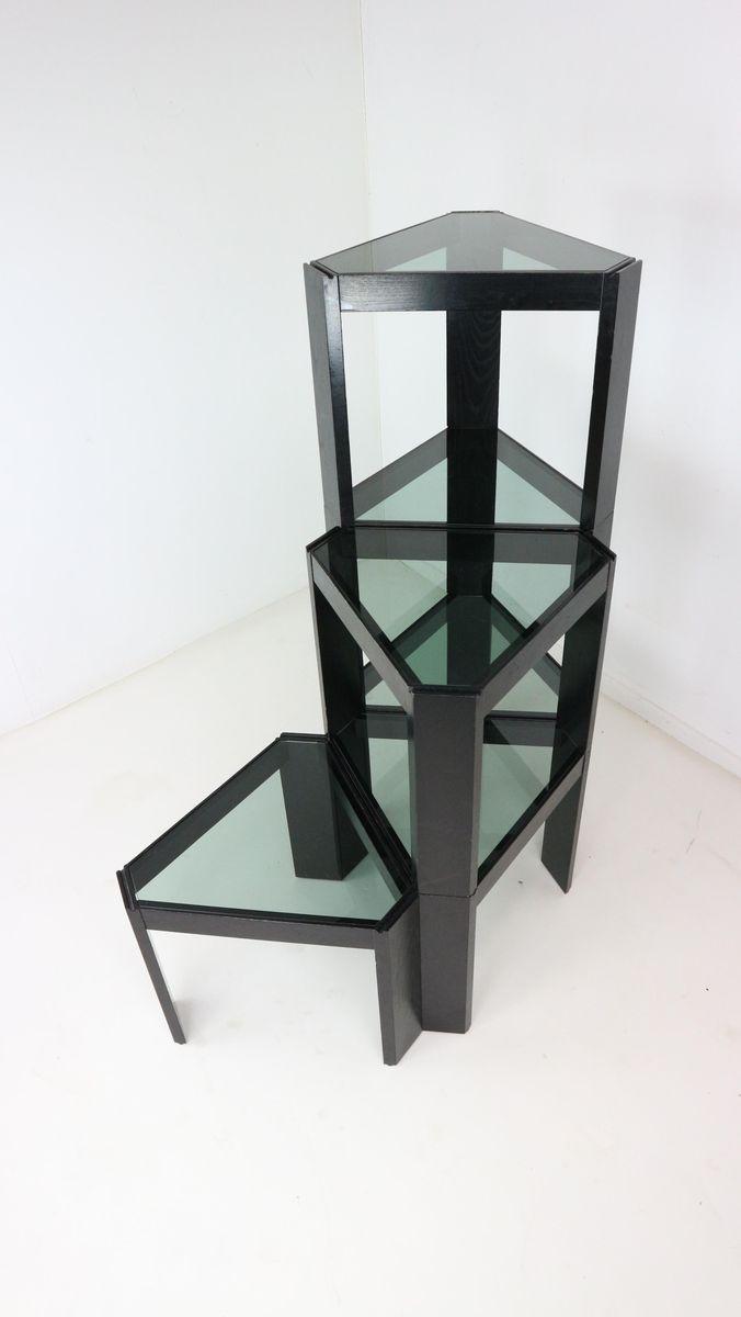 Geometric Stackable Nesting Tables By Porada Arredi 1970s