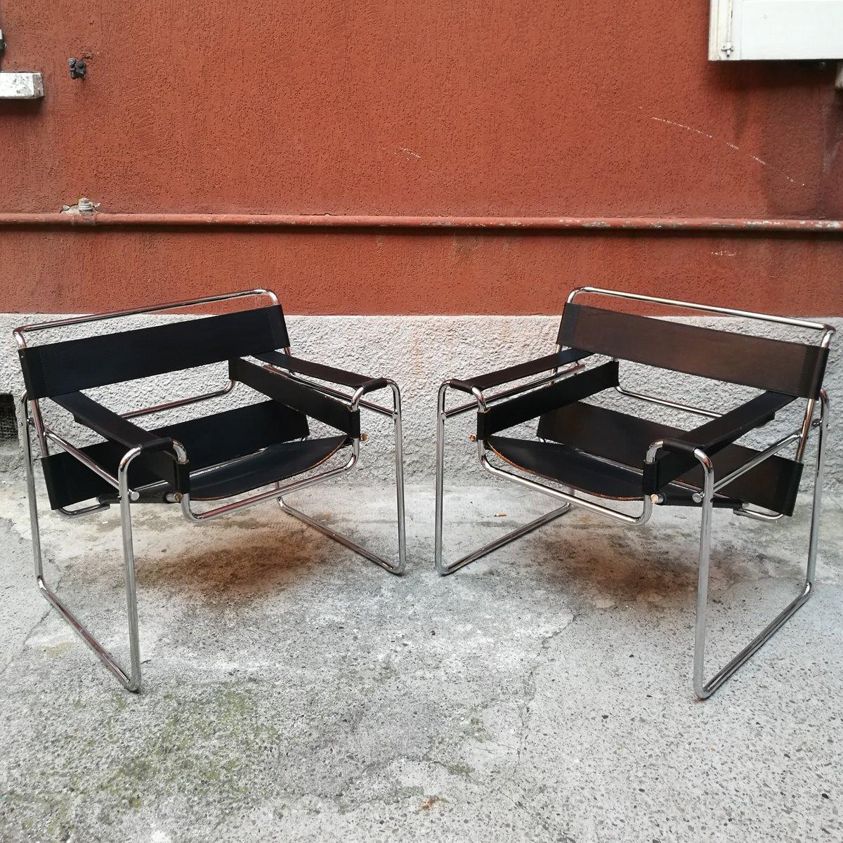 Vintage Wassily B3 Sessel von Marcel Breuer für Knoll, 2er Set
