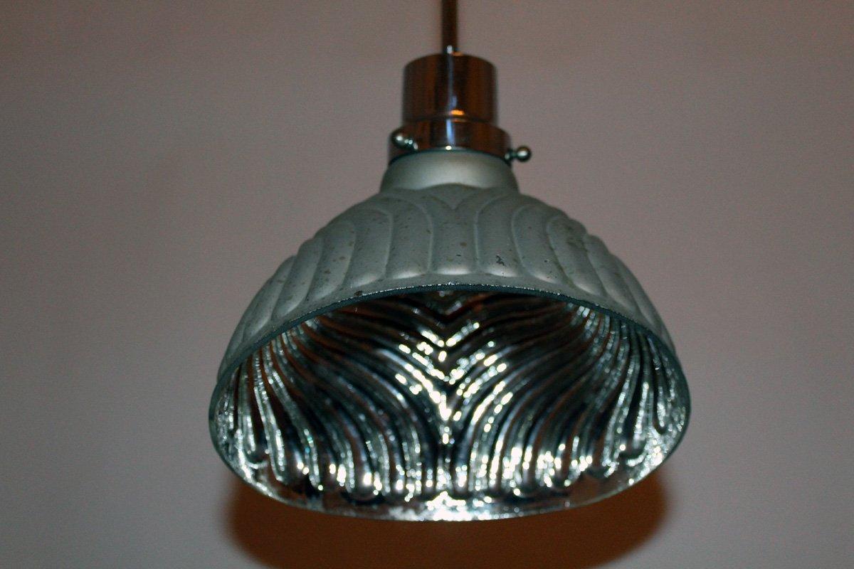 art deco pendant in mirror glass for sale at pamono. Black Bedroom Furniture Sets. Home Design Ideas