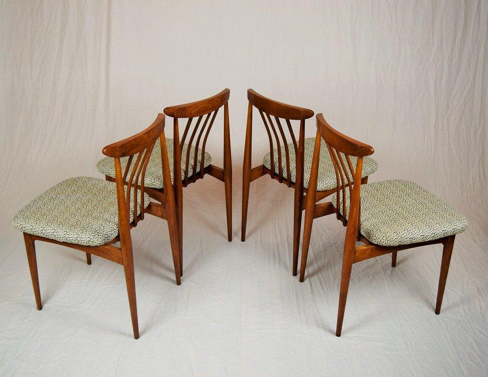 gepolsterte tschechoslowakische esszimmerst hle 1960er. Black Bedroom Furniture Sets. Home Design Ideas
