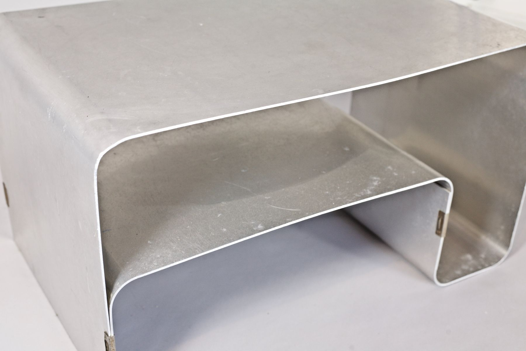 table basse en acier bross par joel ferlande pour kappa 1970s en vente sur pamono. Black Bedroom Furniture Sets. Home Design Ideas
