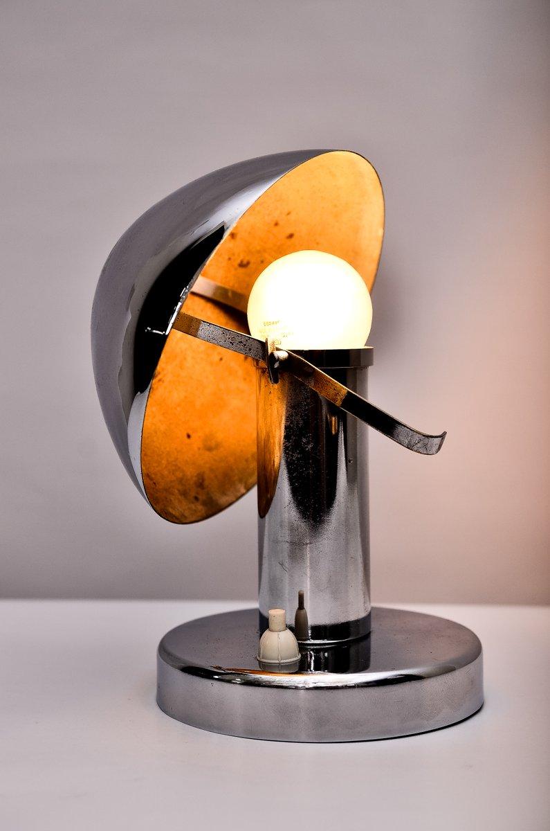 lampe de bureau art d co en chrome avec abat jour inclinable 1920s en vente sur pamono. Black Bedroom Furniture Sets. Home Design Ideas