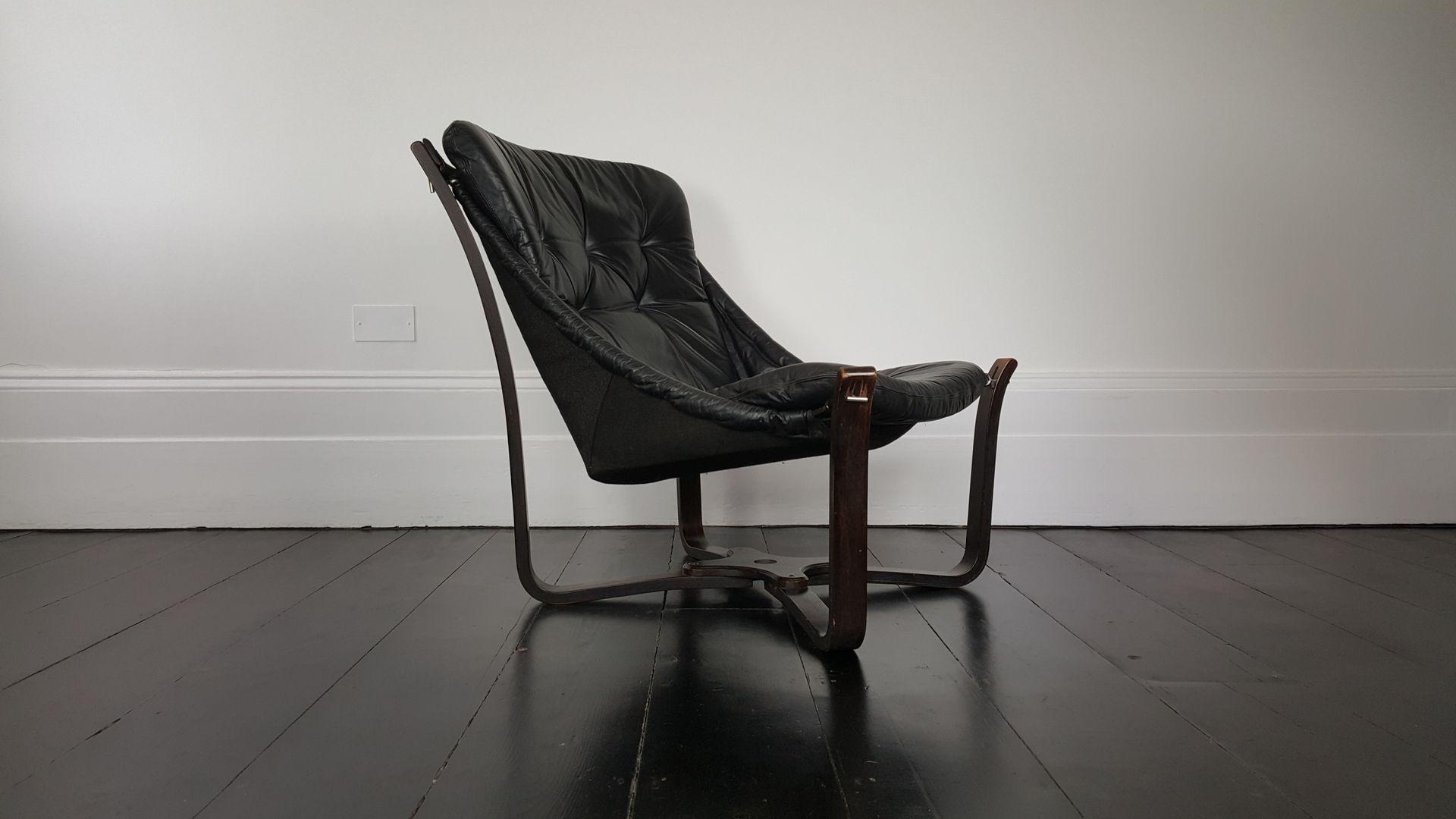D nischer mid century lederschlaufen stuhl 1960er bei pamono kaufen - Mid century stuhl ...
