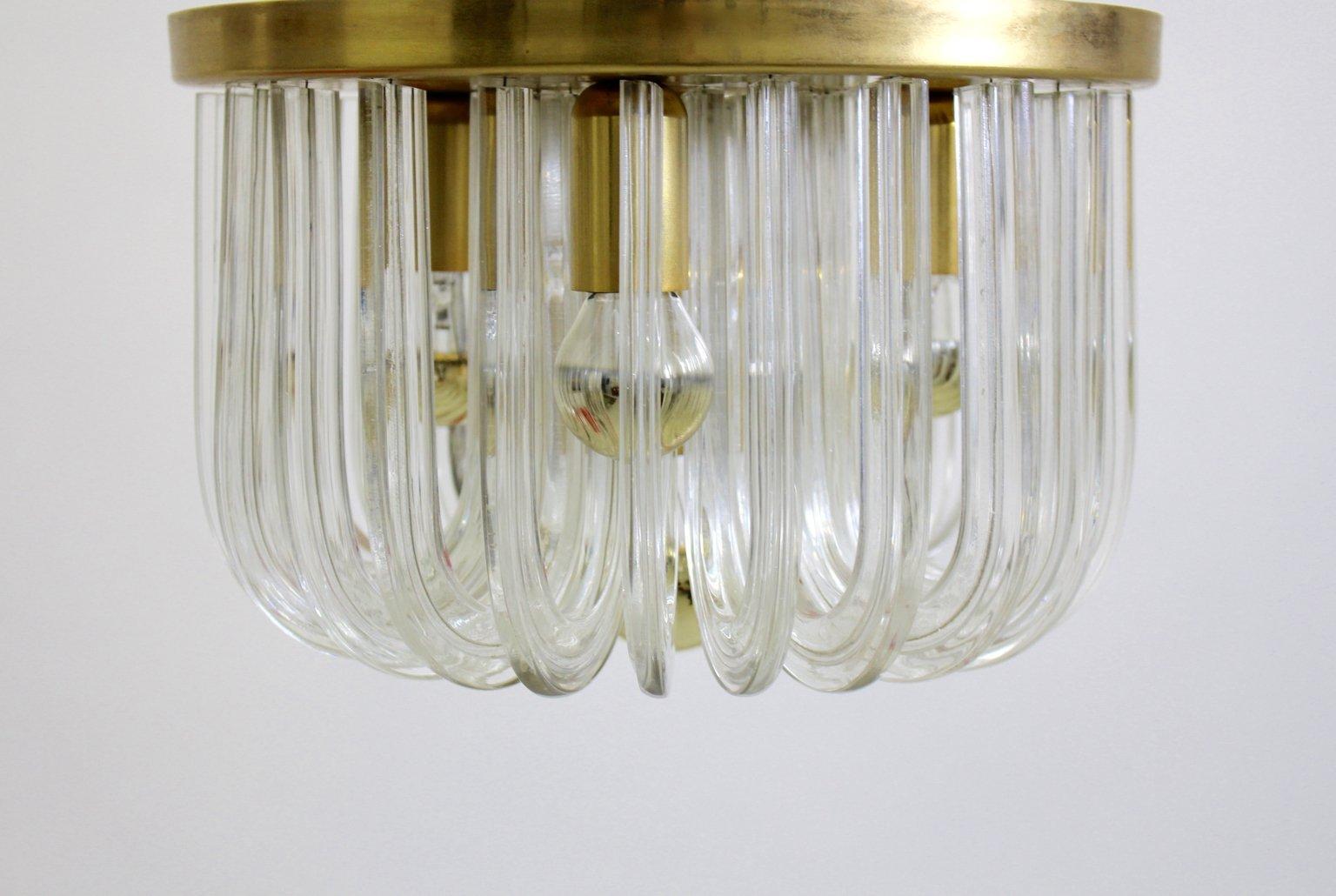 Deckenleuchte aus Kristallglas von Bakalowits & Söhne, 1960er