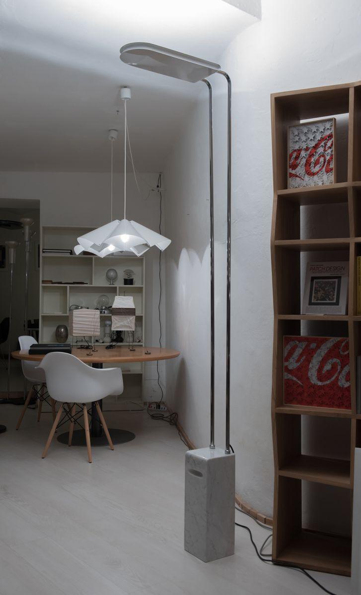 Vintage Gesto Stehlampen aus Marmor von Bruno Gecchelin für Skipper an...