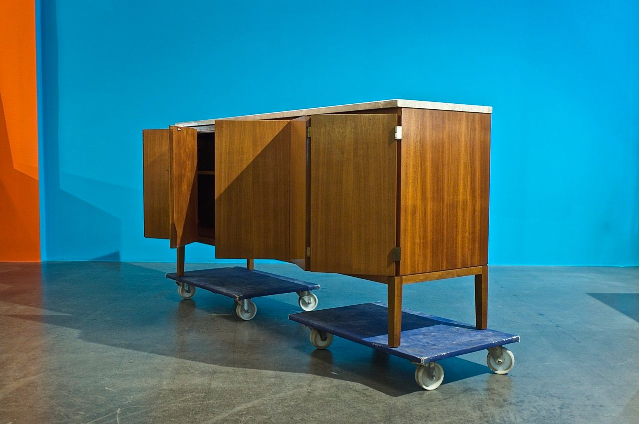 vintage credenza by paul mccobb for wk m bel for sale at pamono. Black Bedroom Furniture Sets. Home Design Ideas