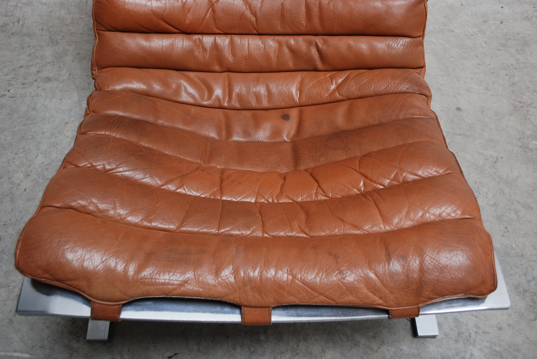 Vintage Ari Lounge Chair In Cognac Brandy Leather By Arne
