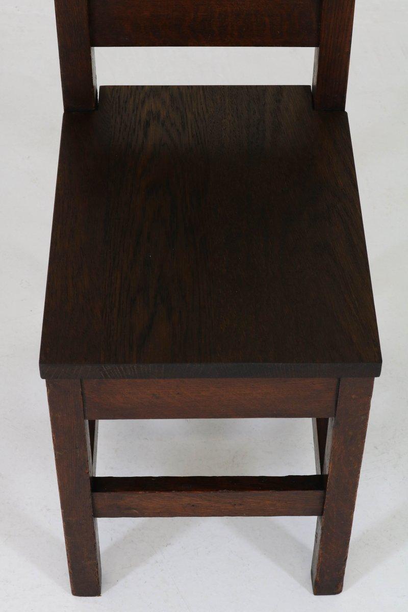 arts crafts stuhl aus eiche mit hoher r ckenlehne 1900er bei pamono kaufen. Black Bedroom Furniture Sets. Home Design Ideas