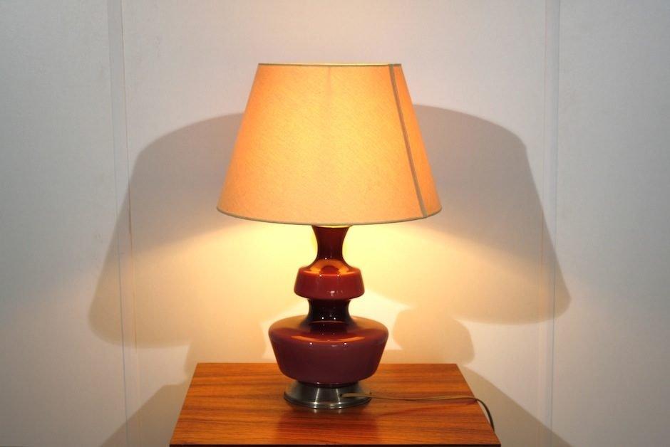 Lampe de bureau vintage en verre violet en vente sur pamono - Lampe de bureau style anglais ...
