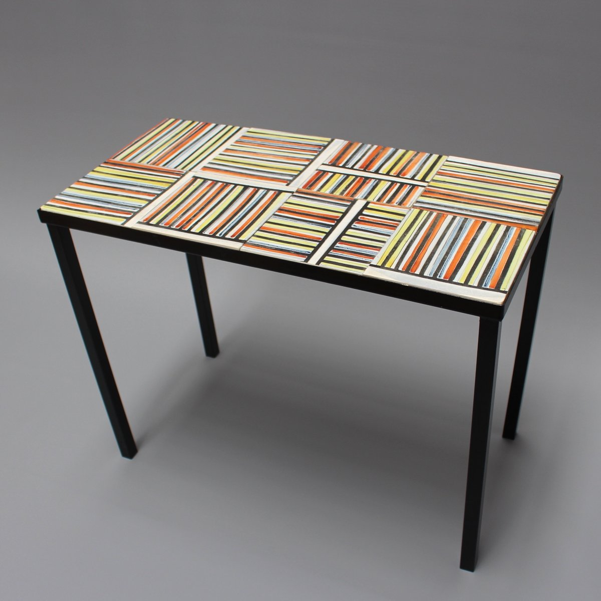 Coffee Table With Pyjama Ceramic Tiles By Roger Capron