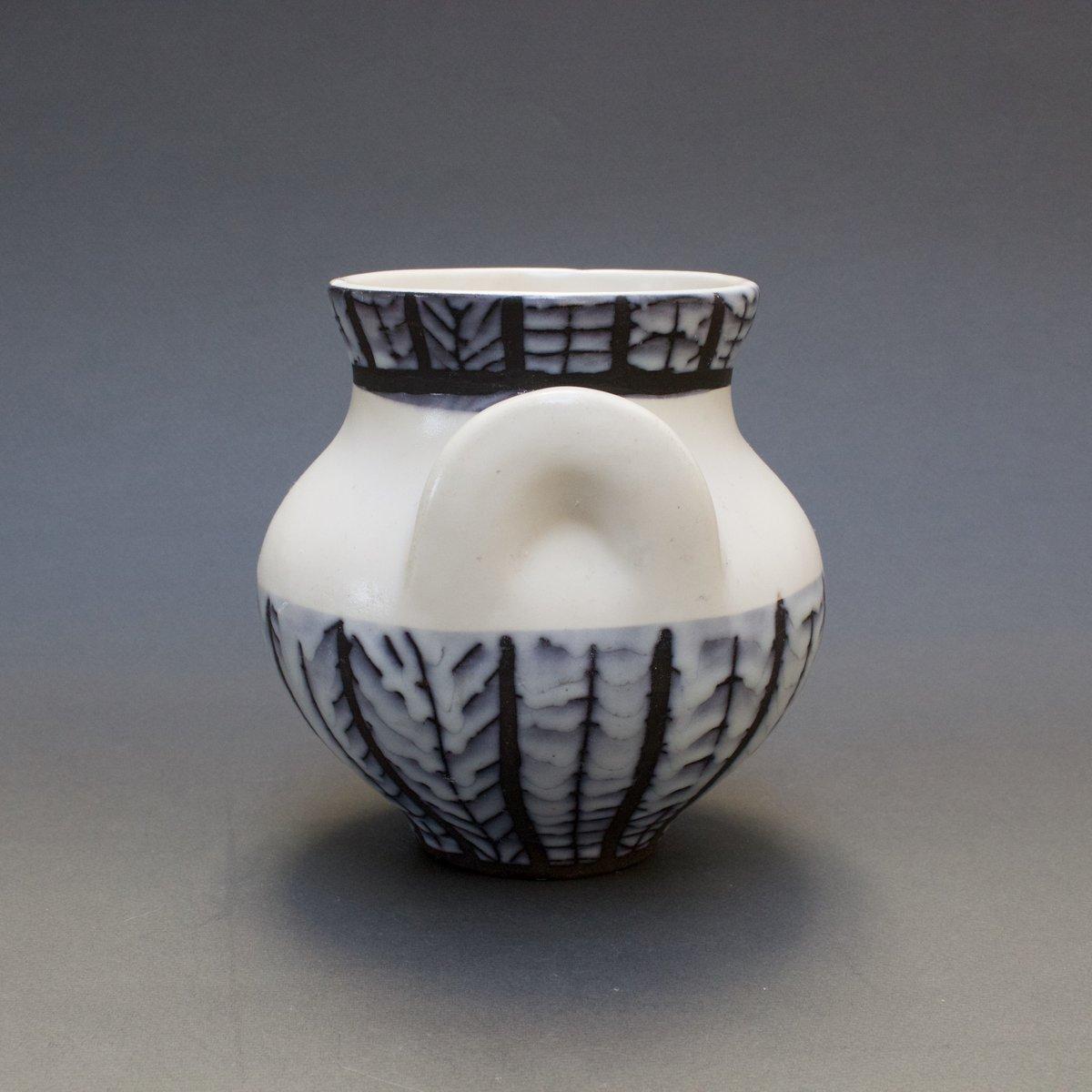 vase oreilles en c ramique par roger capron 1950s en vente sur pamono. Black Bedroom Furniture Sets. Home Design Ideas