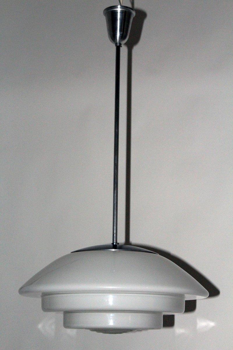 Große Vintage Sistrah Hängelampe von Otto Müller, 38 cm