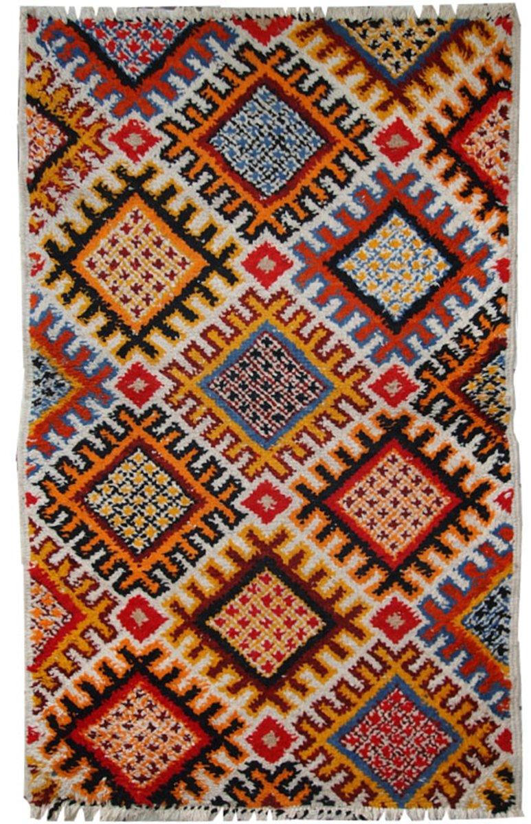 handgefertigter marokkanischer vintage berber teppich 1960er bei pamono kaufen. Black Bedroom Furniture Sets. Home Design Ideas