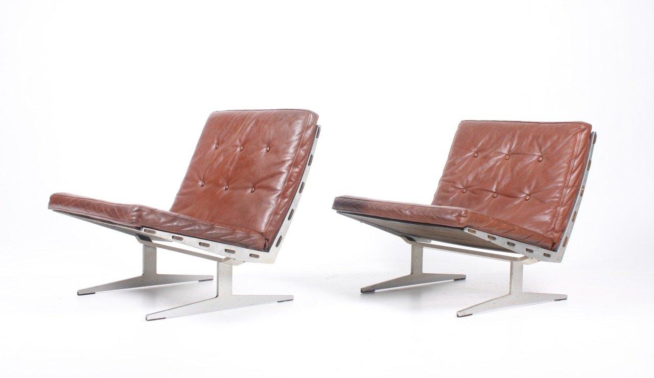 Sessel von Paul Leidersdorff, 1960er, 2er Set