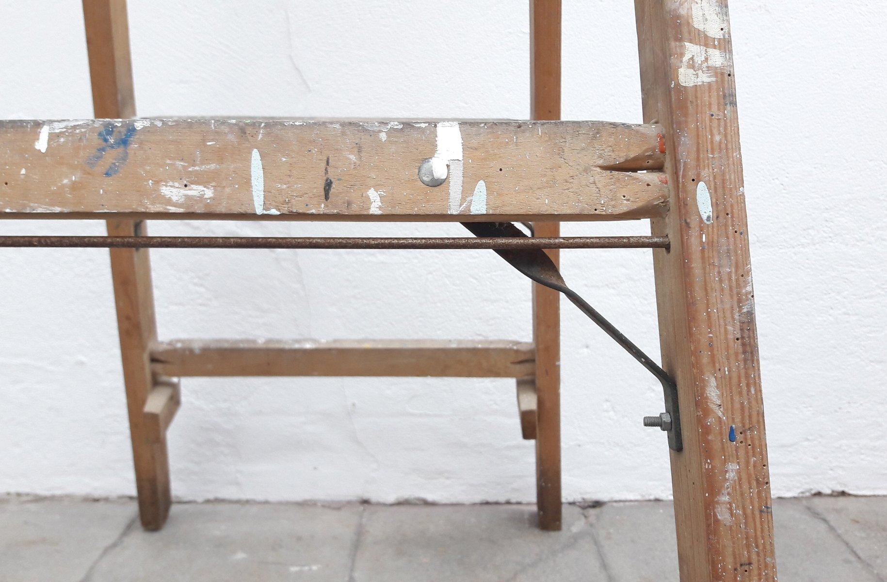 Scaletta In Legno Pieghevole : Scala a pioli da pittore pieghevole in legno anni 60 in vendita su