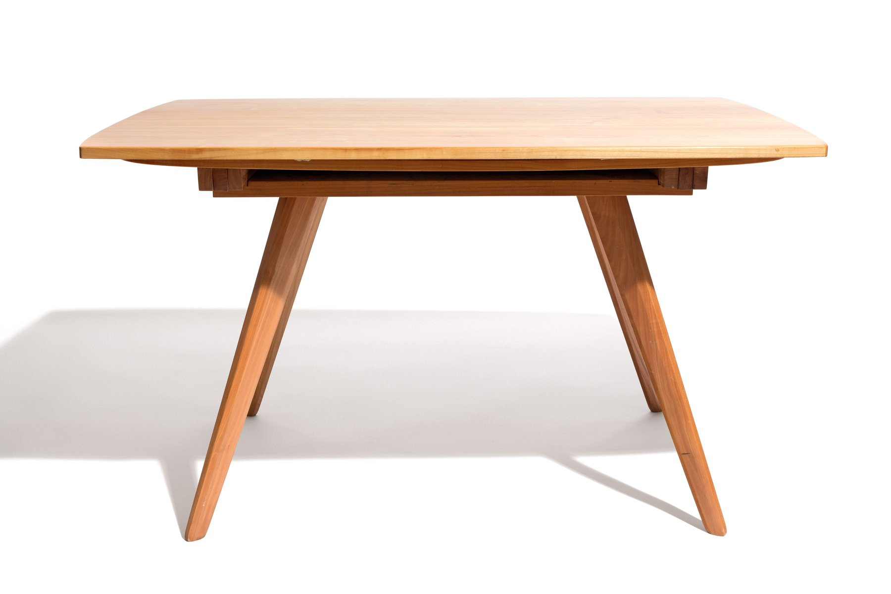 Extendable Zwei Form Tisch Table By Jacob Muller For Wohnhilfe 1950s