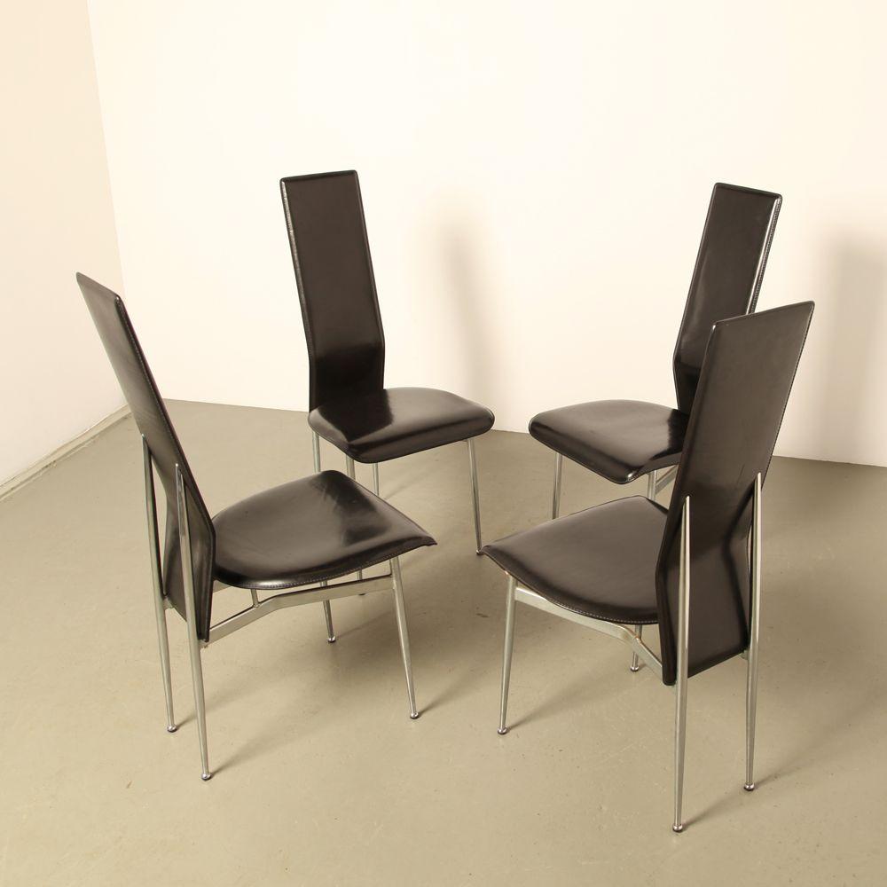 s 44 st hle von giancarlo vegni f r fasem 1986 4er set bei pamono kaufen. Black Bedroom Furniture Sets. Home Design Ideas