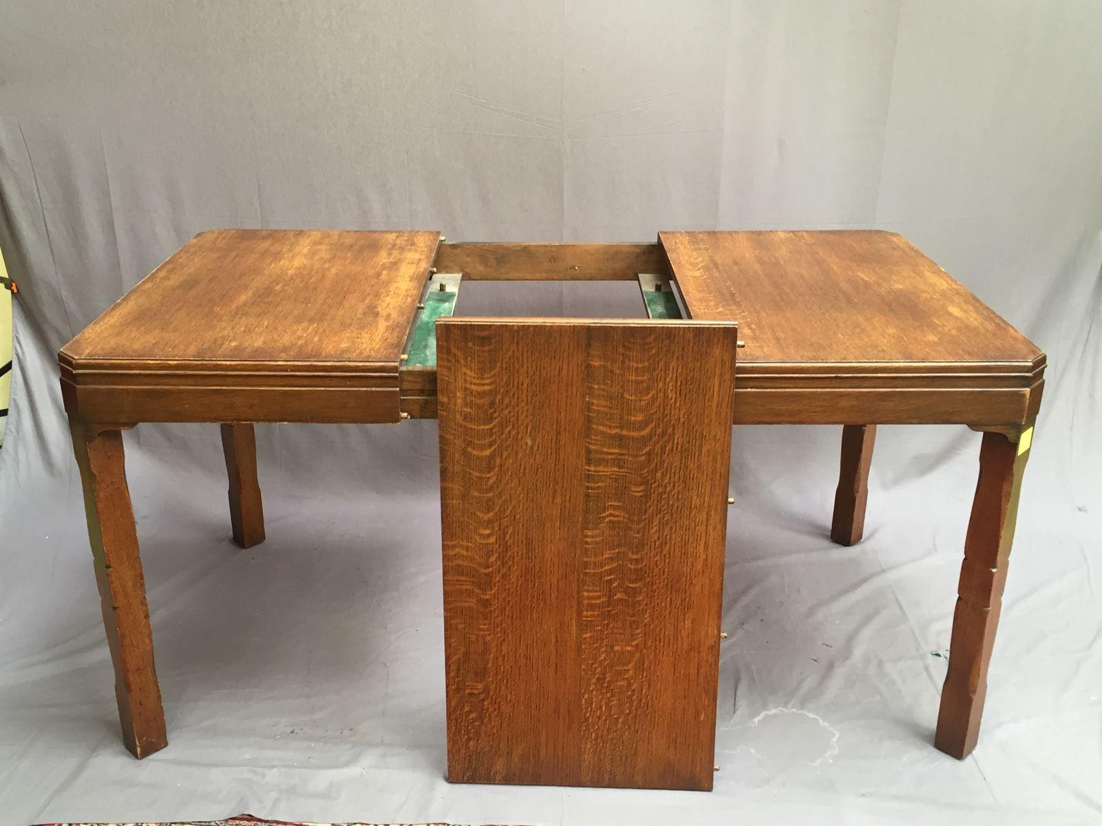 tisch aus eiche 1930er bei pamono kaufen. Black Bedroom Furniture Sets. Home Design Ideas