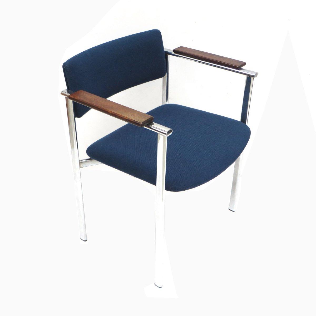 Blaue Vintage Sessel, 1960er, 7er Set