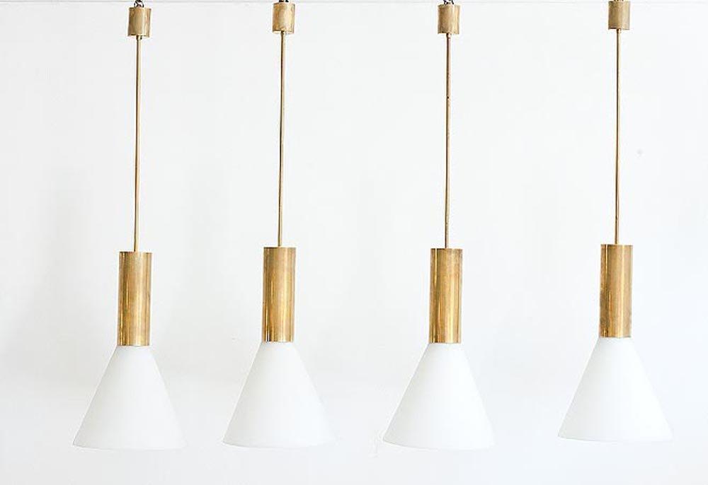 Lampade da soffitto di stilnovo anni 39 50 set di 4 in - Lampade da tavolo anni 50 ...