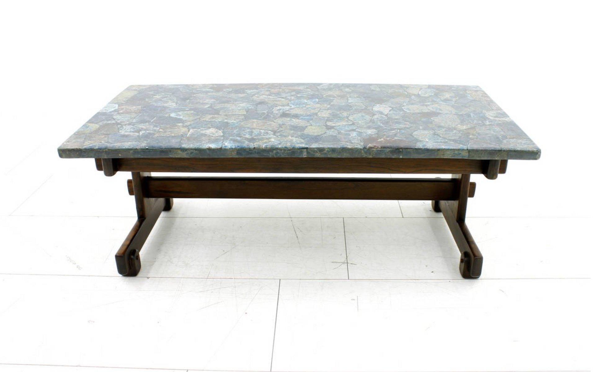 table basse apatit en pierre avec plateau en mosa que par sergio rodrigues 1964 en vente sur pamono. Black Bedroom Furniture Sets. Home Design Ideas