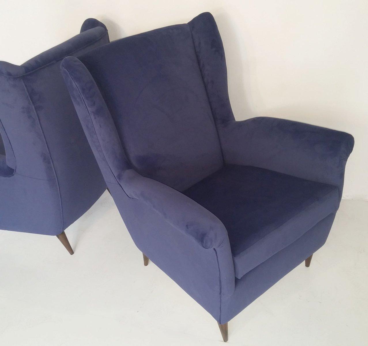 mid century sessel aus samt 2er set bei pamono kaufen. Black Bedroom Furniture Sets. Home Design Ideas