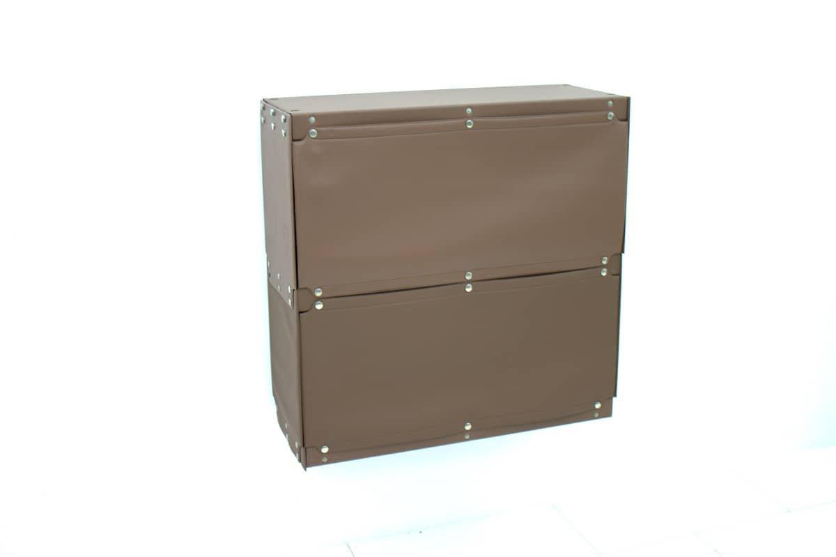 braunes softline plastik regal von otto zapf f r indesign. Black Bedroom Furniture Sets. Home Design Ideas