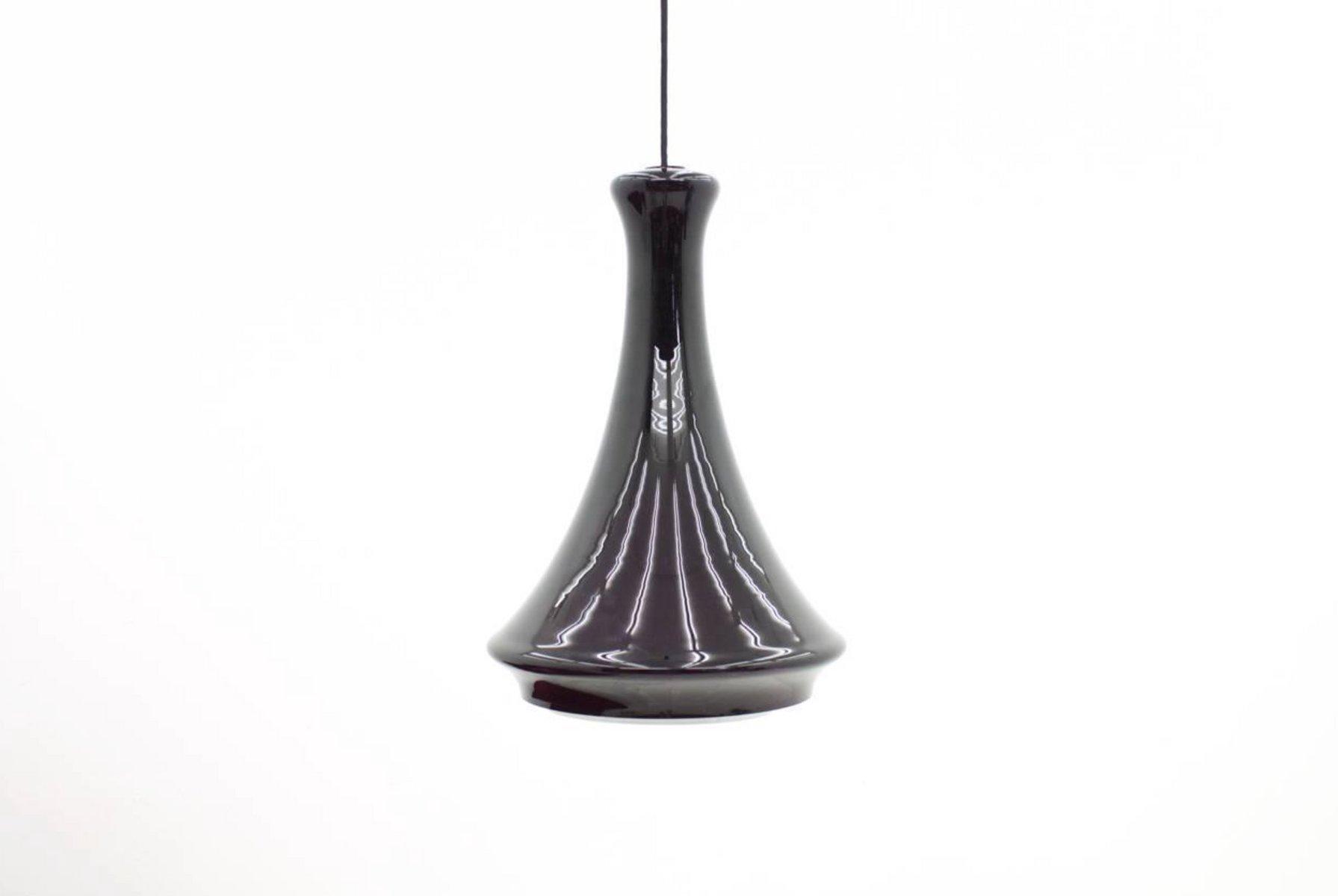 Zweifarbige Glas Hängelampe von Johannes Hammerborg für Fog & Morup, 1...