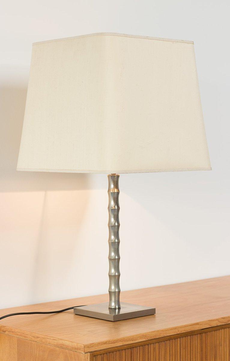 Moderne Vintage Tischlampen in Bambus Optik, 2er Set