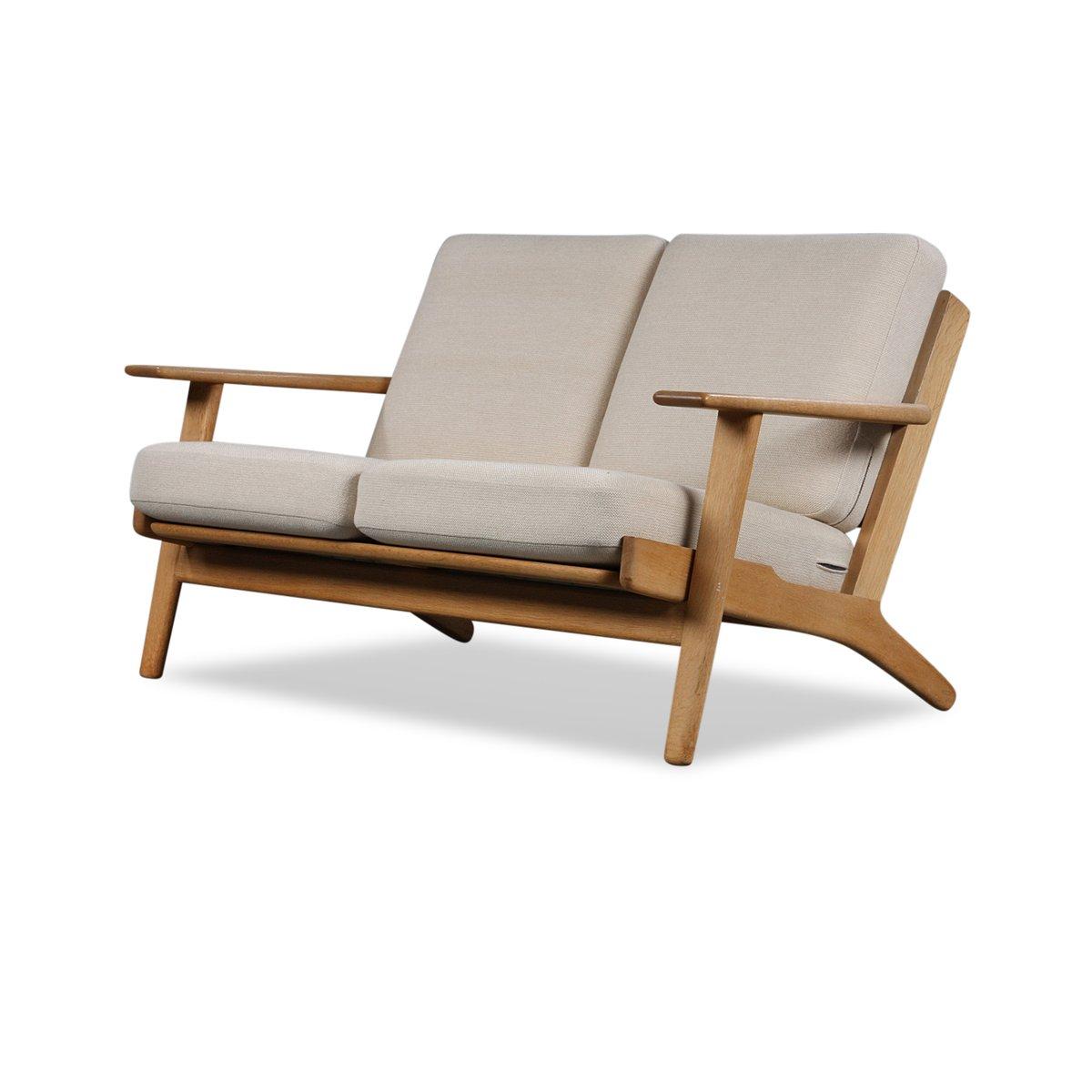 GE-290 2-Sitzer Sofa aus Eiche von Hans J. Wegner für Getama, 1950s